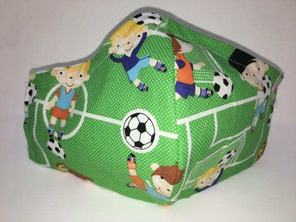 Maske, Fussball, Behelfsmaske, keine Schutzmaske, Atemschutz