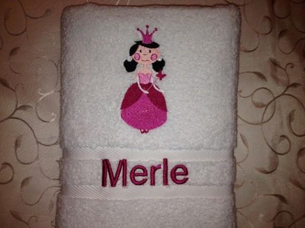 Handtuch 500 g/m Prinzessin01 + Name bestickt