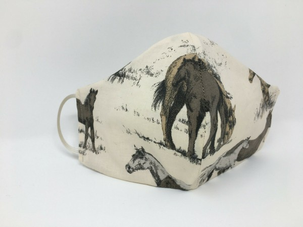 Pferde Pony, Behelfsmaske Behelfs Maske, keine Schutzmaske