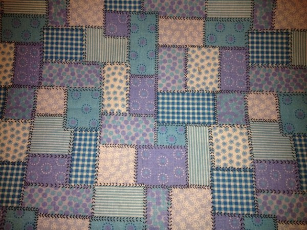 Baumwollstoff Stoffe - Patchwork blau - 0,5 x 1,6 m