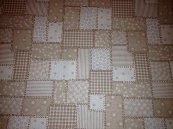 Baumwollstoff Stoffe - Patchwork braun- beige - 0,5 x 1,6 m